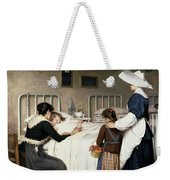Enrique Paternina Garcia Cid - Mother Visit To The Hospital 1892 Weekender Tote Bag