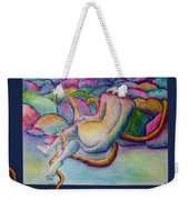 Entangled Figure With Rocks Weekender Tote Bag