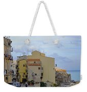 Entering Cefalu In Sicily Weekender Tote Bag