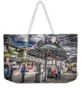 Entering Pike Place Weekender Tote Bag