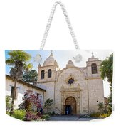 Entering The Church Sanctuary At Carmel Mission-california  Weekender Tote Bag