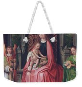 Enthroned Virgin And Child, With Angels Weekender Tote Bag