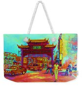 Entrance To Chinatown Weekender Tote Bag by Carole Spandau