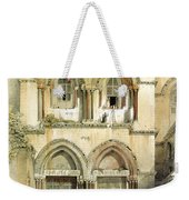 Entrance To Church Of The Holy Sepulchre Card Weekender Tote Bag