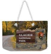 Entrance To Glacier Weekender Tote Bag