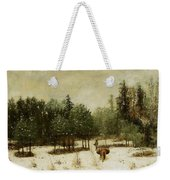 Entrance To The Forest In Winter Weekender Tote Bag by Cherubino Pata