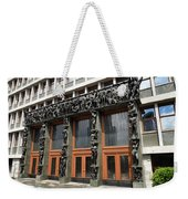 Entrance To The National Assembly Building Of Slovenia Slovenian Weekender Tote Bag