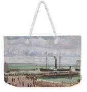 Entrance To The Port Of Le Havre And The West Breakwaters Weekender Tote Bag