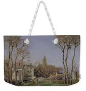 Entrance To The Village Of Voisins Weekender Tote Bag by Camille Pissarro