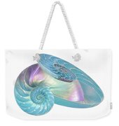 Entwined Nautilus Shells On White Weekender Tote Bag