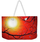 Entwining Branches Of Turquoise Leaves Weekender Tote Bag