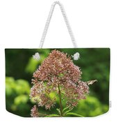 Epargyreus Clarus On Joe-pyed Weed Weekender Tote Bag