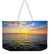 Epic Colorful Sunset On Sea Weekender Tote Bag