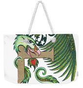 Epsilon Eagle In Green And Gold Weekender Tote Bag