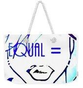 Equal Weekender Tote Bag