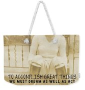 Equestrian Quote Weekender Tote Bag