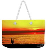 Erie Beach Sunset Weekender Tote Bag