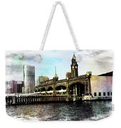 Erie Lakawanna Ferry And Train Station Weekender Tote Bag
