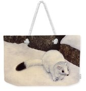 Ermine In Winter Weekender Tote Bag
