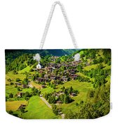 The Alpine Village Of Ernen In Switzerland  Weekender Tote Bag