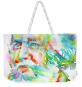 Ernst Haeckel - Watercolor Portrait Weekender Tote Bag