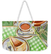 Eroica Britannia Bakewell Pudding And Cup Of Tea On Green Weekender Tote Bag