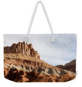 Erosion Shows The Layers Of Sediment Weekender Tote Bag