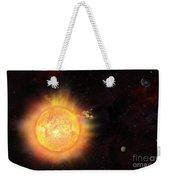 Eruption - Solar Storm Weekender Tote Bag