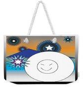 Eskimo And Snowflakes Graphic Weekender Tote Bag