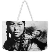 Eskimo Woman And Child Weekender Tote Bag
