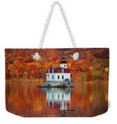 Esopus Lighthouse In Late Fall #3 Weekender Tote Bag