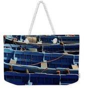 Essaouira Blue Boats Weekender Tote Bag