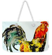 Essence Of Rooster Weekender Tote Bag by Monique Faella