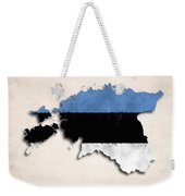 Estonia Map Art With Flag Design Weekender Tote Bag