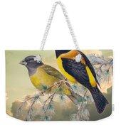 Ethereal Birds On Snowy Branch Weekender Tote Bag