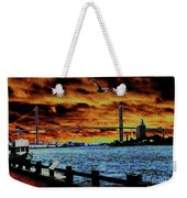 Eugene Talmadge Memorial Bridge And The Serious Politics Of Necessary Change No. 1 Weekender Tote Bag
