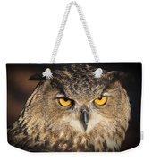 Eurasian Eagle Owl Portrait Weekender Tote Bag