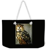 Eurasian Eagle-owl With Oil Painting Effect Weekender Tote Bag