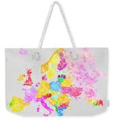 Europe Map Weekender Tote Bag by Setsiri Silapasuwanchai
