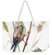 European Goldfinch In The Field Weekender Tote Bag