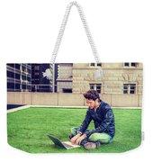 European Graduate Student Studying In New York Weekender Tote Bag