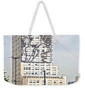 Eva Peron Outlined On The Wall Of A Skyscraper On July Nine Avenue  In Buenos Aires-argentina Weekender Tote Bag