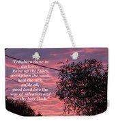 Evangelism Prayer Weekender Tote Bag