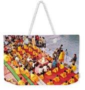 Evening Aarti - Rishikesh India Weekender Tote Bag