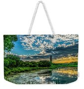 Evening Approaching Cape May Light Weekender Tote Bag