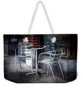Evening At A Sidewalk Cafe Weekender Tote Bag