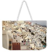 Evening At Santorini Weekender Tote Bag
