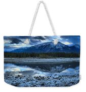 Evening At The Athabasca River Weekender Tote Bag