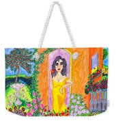Evening At The Girl Cave Weekender Tote Bag