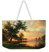 Evening Atmosphere By The Lakeside Weekender Tote Bag